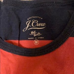 J. Crew Shirts - J Crew blue and coral striped tee